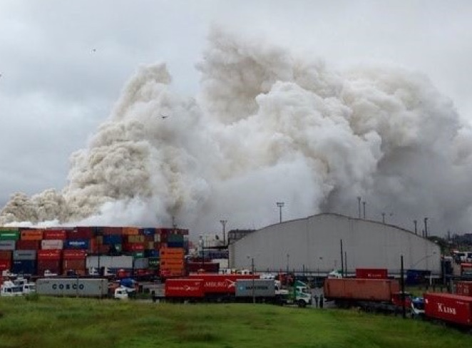 Fire in container storage-2